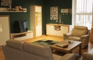 obývačka interiér