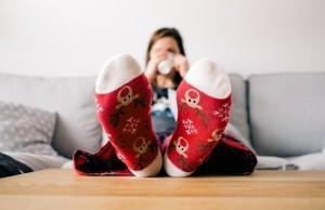 ponožky gauč pohodlie