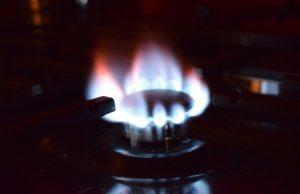 Plynový horák a plyn