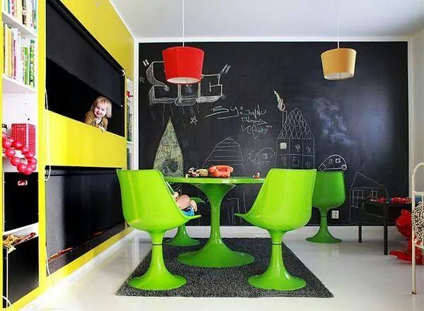 Tabuľová farba na kreslenie na stenu
