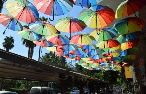 Turecko a dáždniky proti slnku