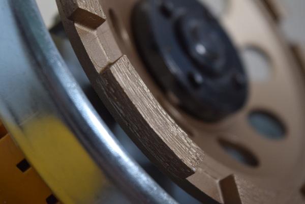 Diamantový brúsny kotúč detail