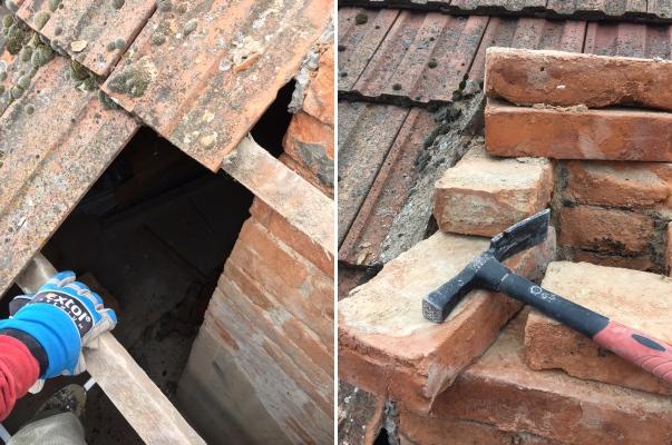 Rekonštrukcia, búranie starý komín