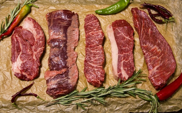 mäso a druhy mias