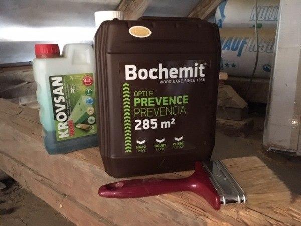 Chémia šetrenie starých trámov, Bochemit
