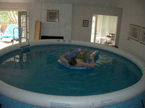 Bazén vo vlastnej obývačke