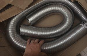 vzduchotechnika, hliníkové ohybné rúry