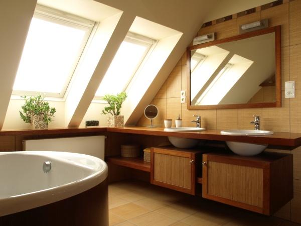 kúpeľňa a podkrovie