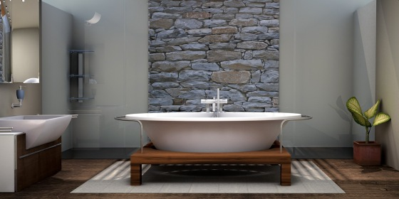 Prírodný kameň v kúpeľni