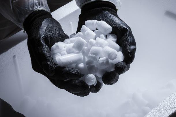Suchý ľad a použitie