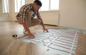 podlahové kúrenie, vykurovanie