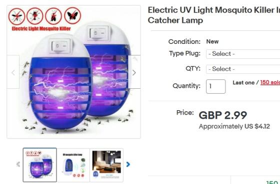 UV odpudzovače hmyzu, ktoré nie sú UV lampami